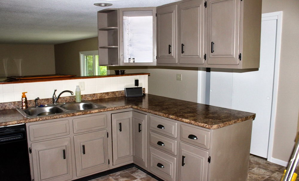 How To Paint Kitchen Cabinets Before And After Photos