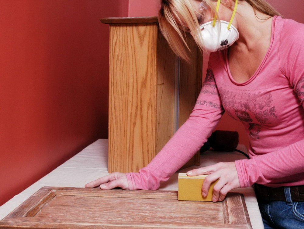 How To Sand Kitchen Cabinets Before Painting