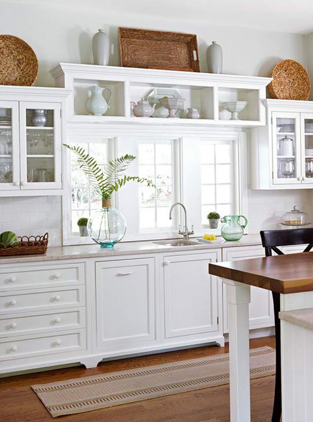 Ideas For Decor Above Kitchen Cabinets
