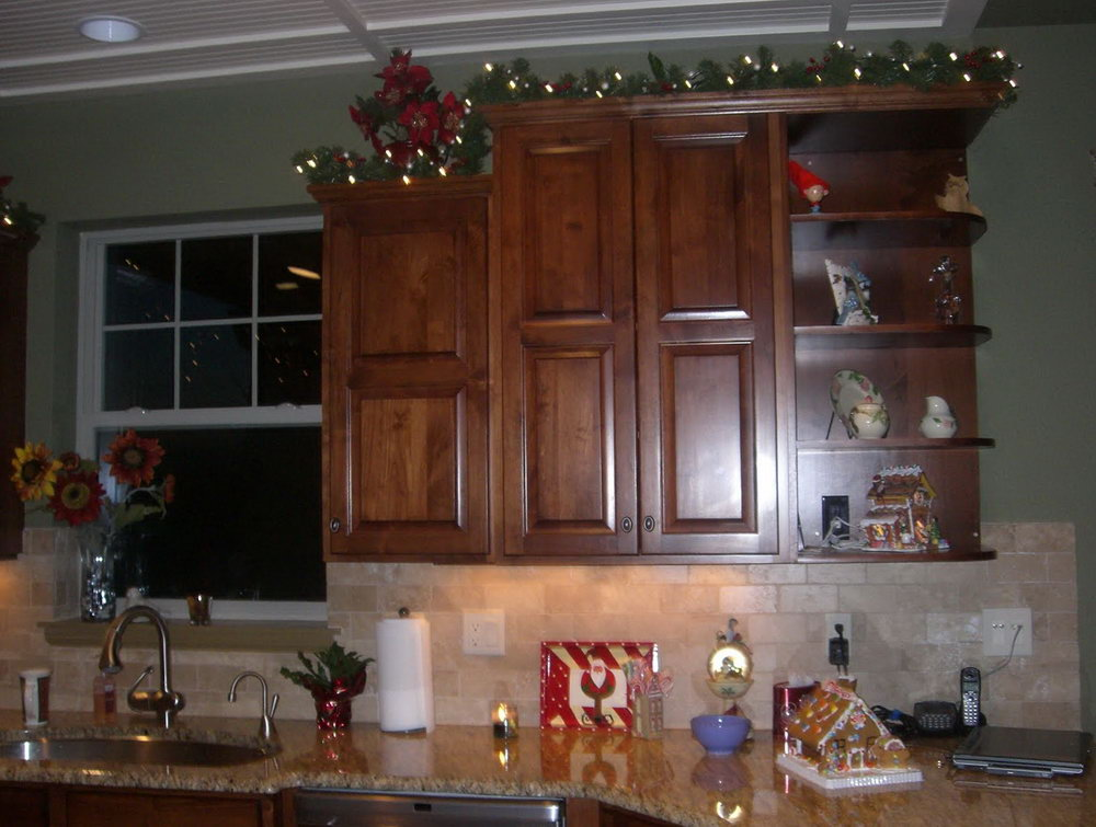Ideas For Decorating Space Above Kitchen Cabinets