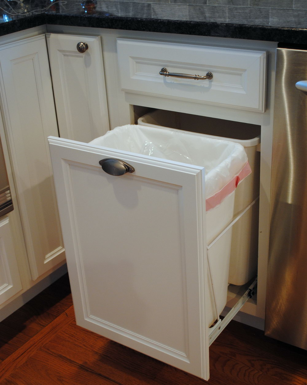 Kitchen Cabinet Trash Can Kit
