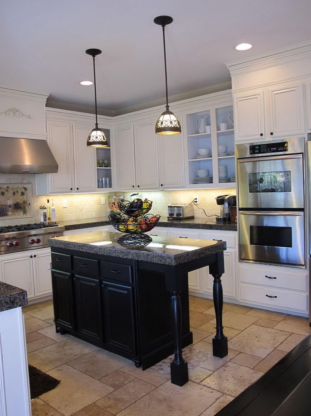 Kitchen Cabinet White And Black