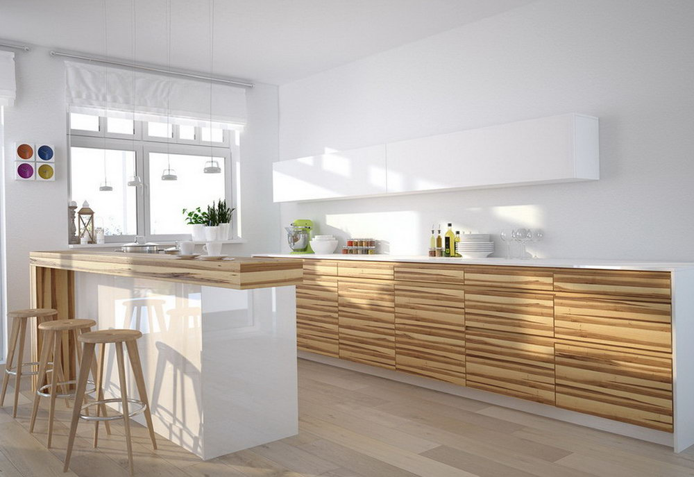 Kitchen Cabinet White And Wood
