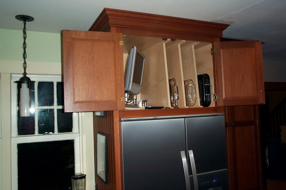 Kitchen Cabinets Above Refrigerator