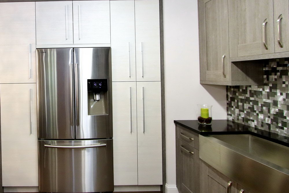 Kitchen Cabinets Built In Refrigerator