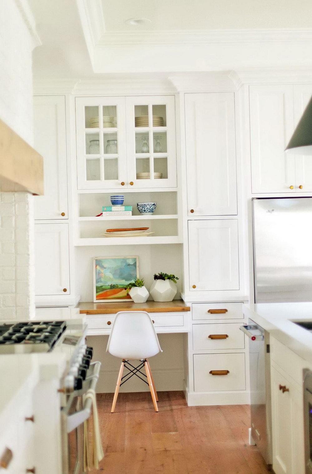 Kitchen Cabinets Desk Workspace