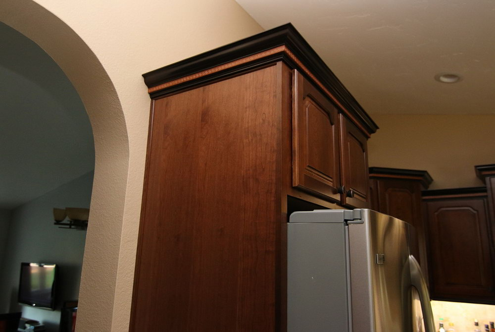 Kitchen Cabinets Over Refrigerator