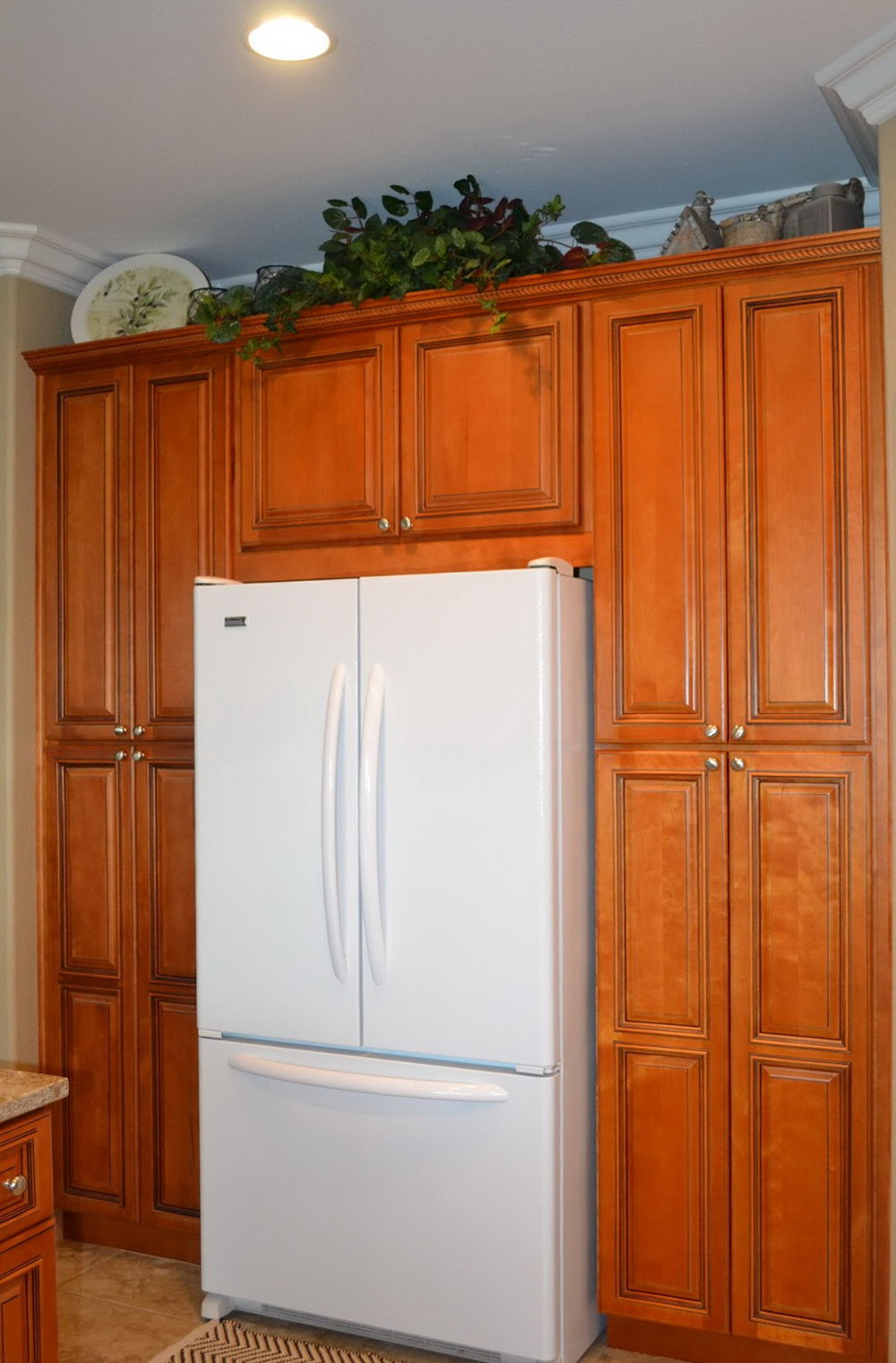 Kitchen Cabinets Refrigerator Surround