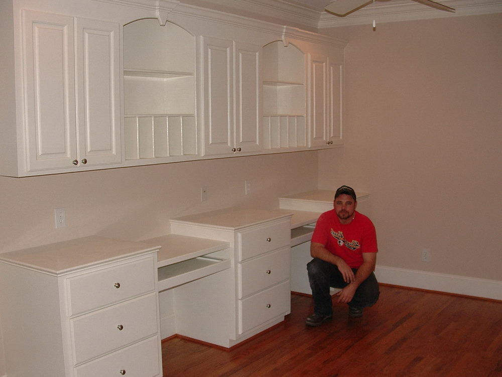 Kitchen Cabinets With Desk Area