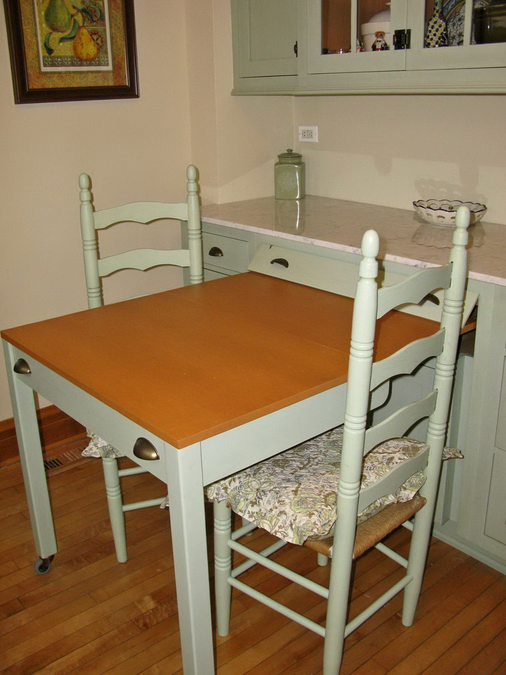 Kitchen Cabinets With Pull Out Table