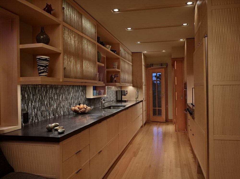 Kitchen Cabinets Wood And White