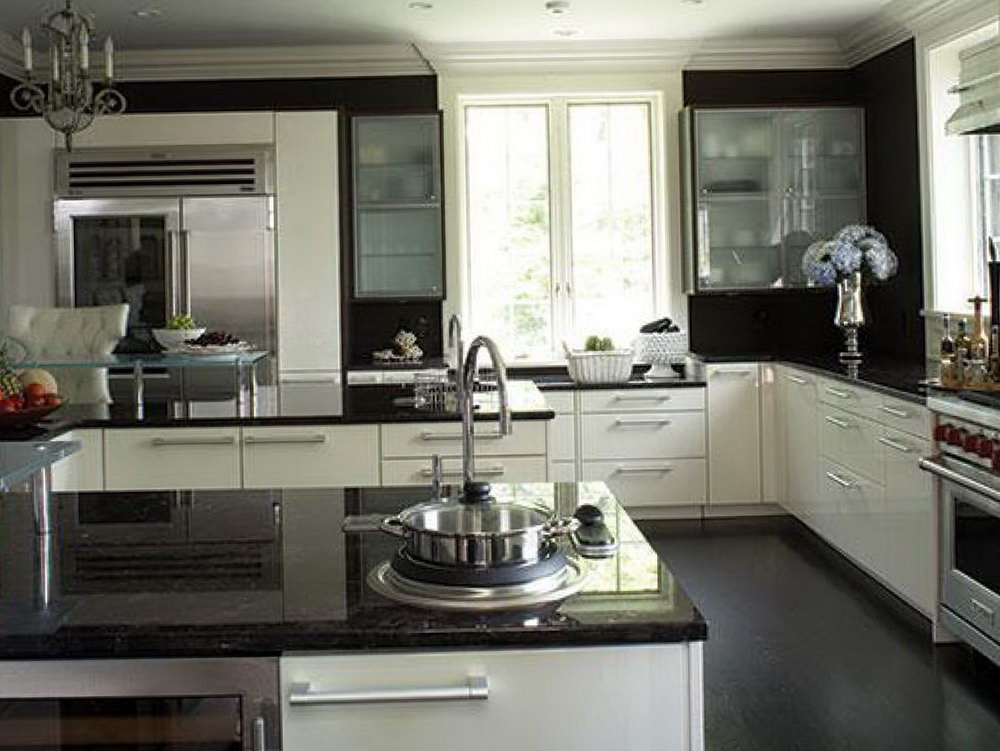 Kitchen Design White Cabinets Black Countertops