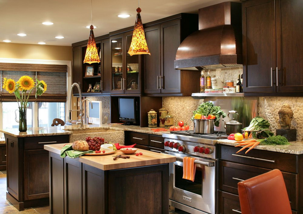 Kitchen Ideas With Dark Wood Cabinets