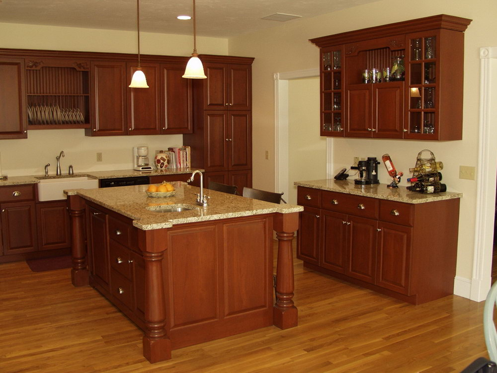 Kitchen Oak Cabinets Wall Color