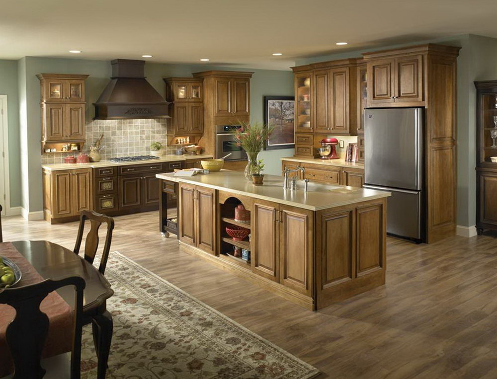 Kitchen Paint Color Ideas With Light Oak Cabinets