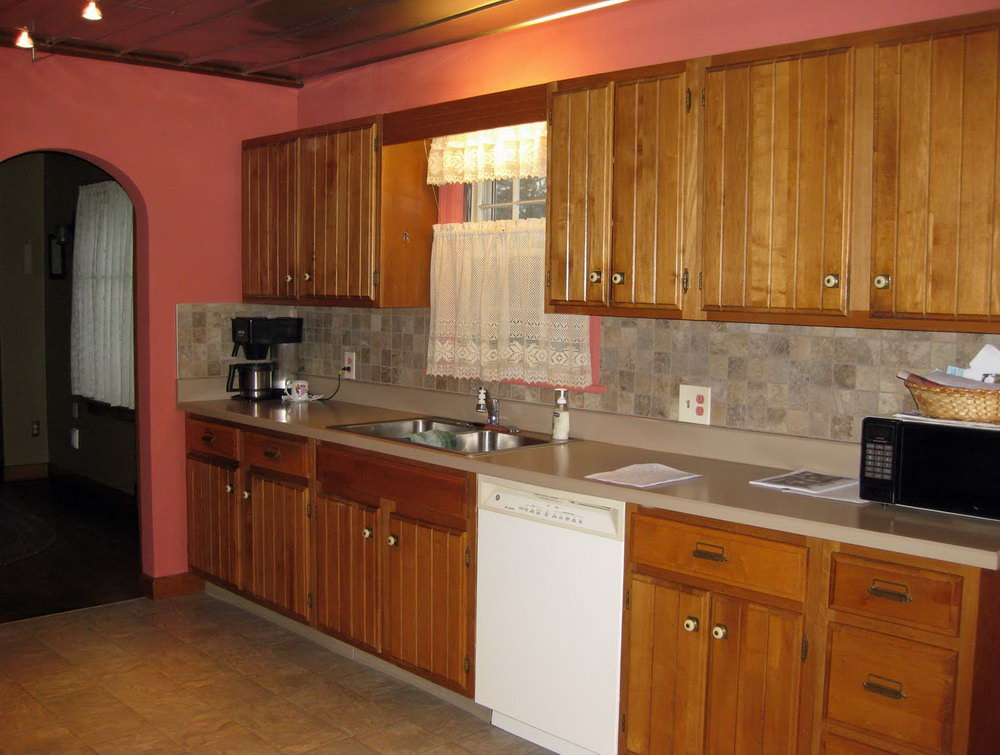 Kitchen Paint Color With Cherry Cabinets