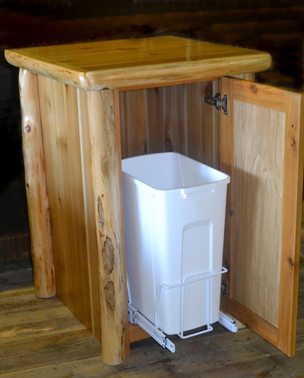 Kitchen Trash Cabinet Width