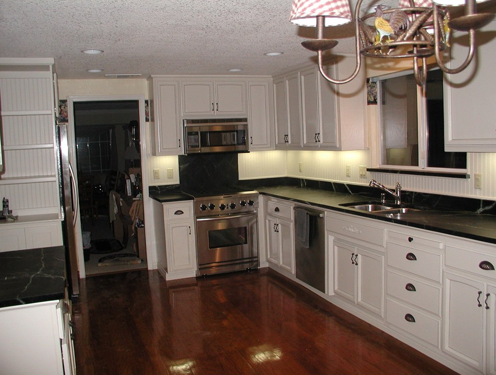 Kitchens White Cabinets Dark Countertops