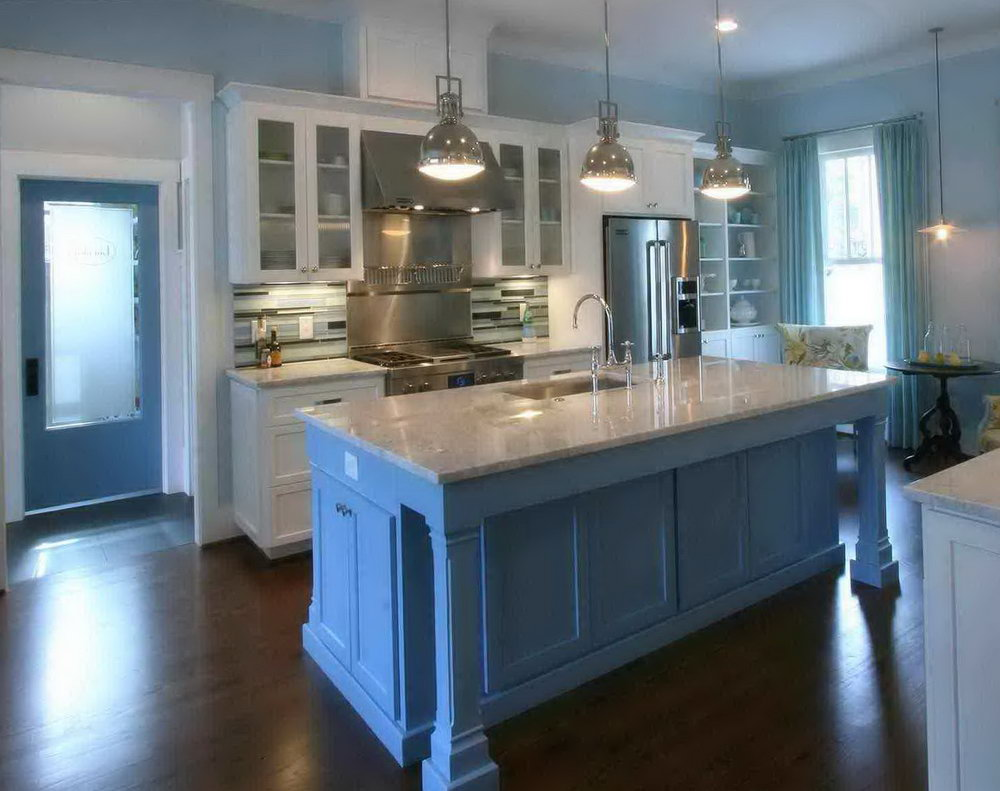 Light Blue Kitchen Walls White Cabinets