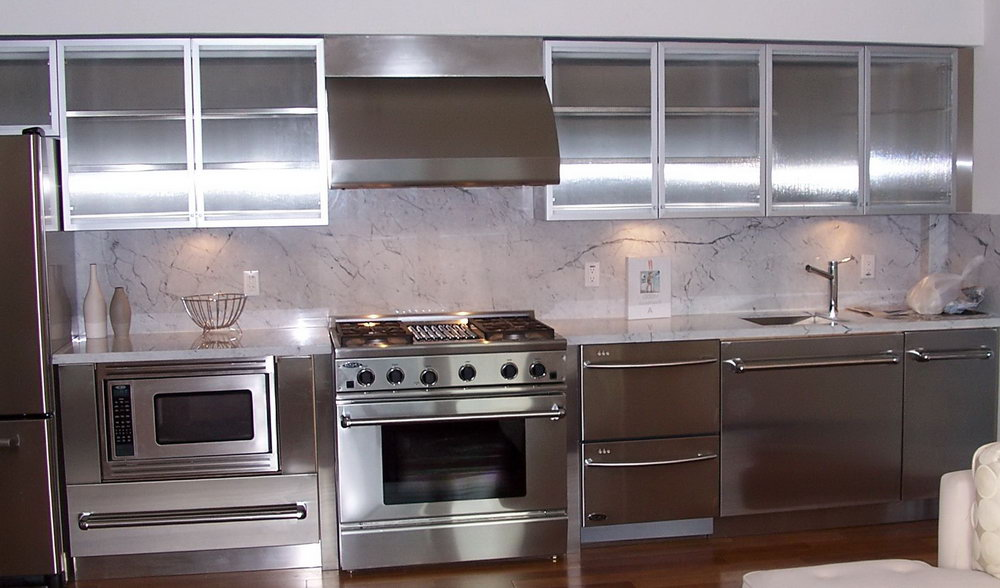 Metal And Glass Kitchen Cabinets
