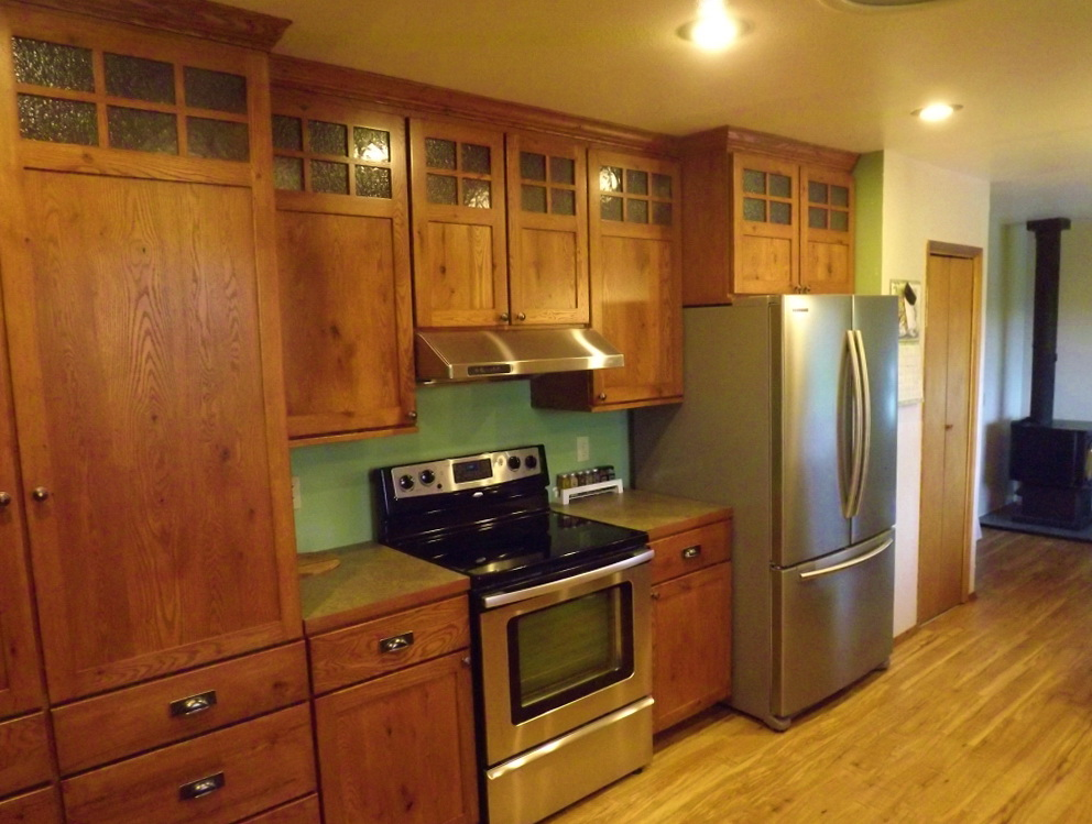 Mission Oak Kitchen Cabinets