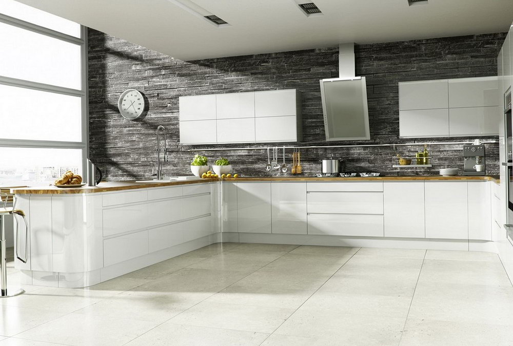 Modern Kitchen Backsplash White Cabinets
