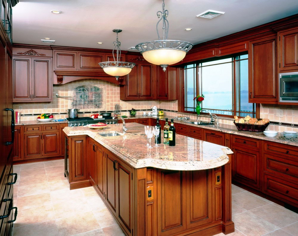 Modern Kitchen Cherry Cabinets