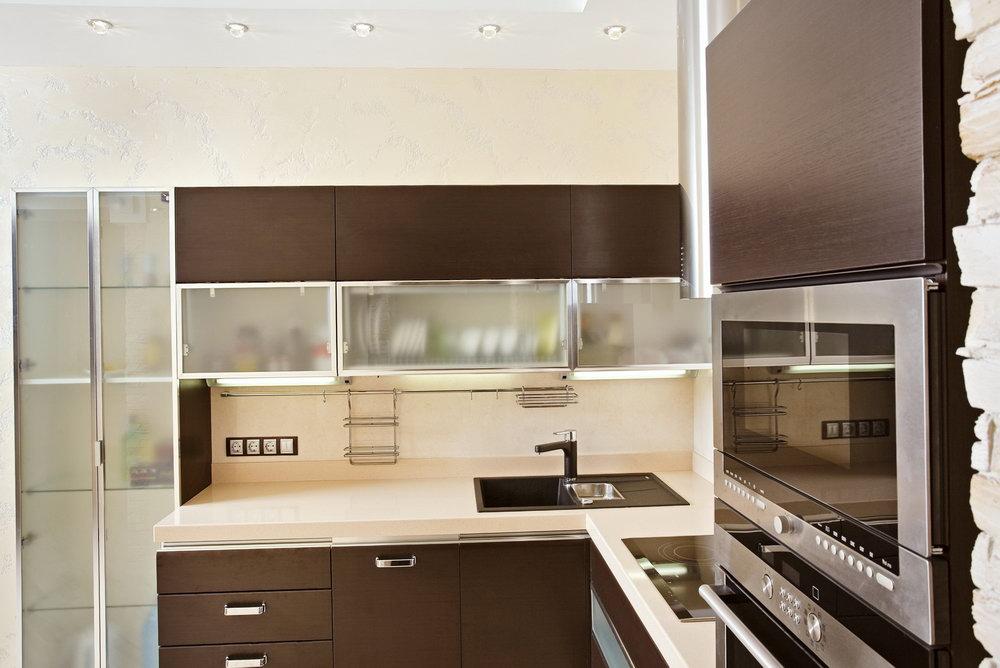 Modern Kitchen Glass Cabinets