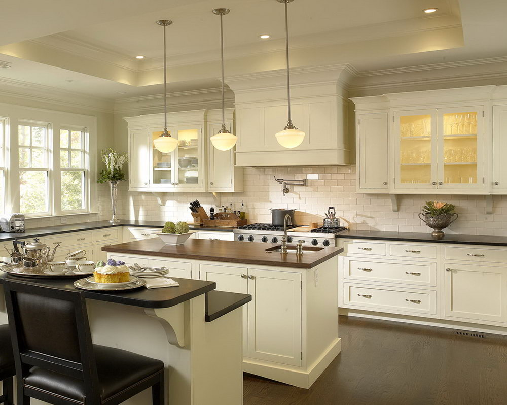 Modern White Kitchen Cabinet Design