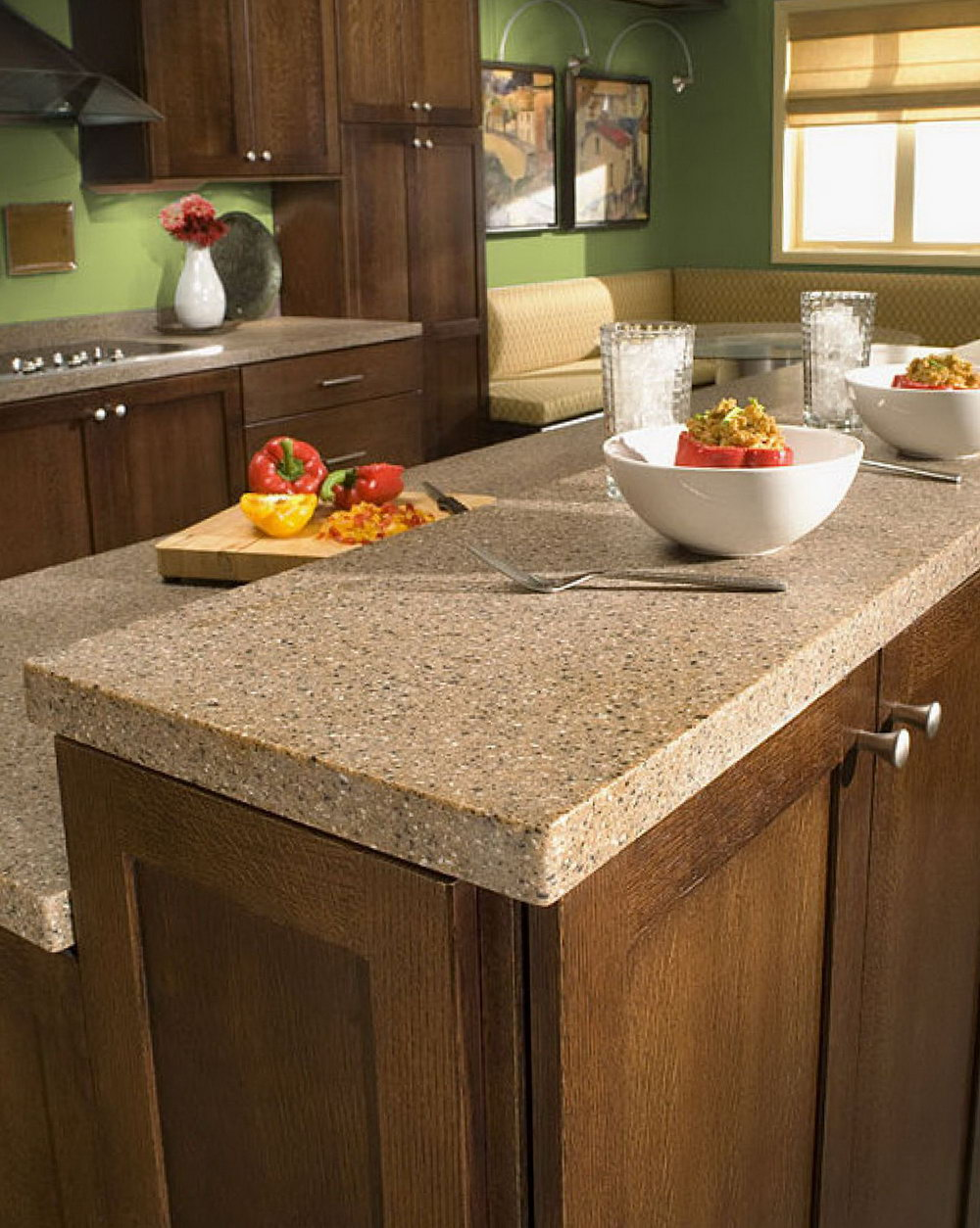 Multi Color Kitchen Cabinets