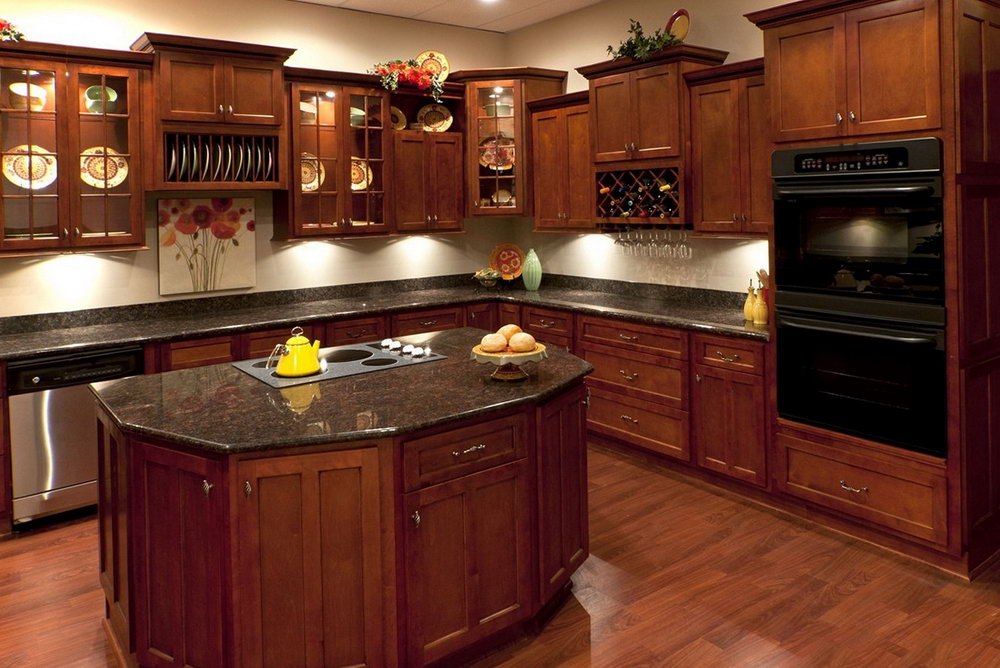 Natural Cherry Kitchen Cabinets Photos