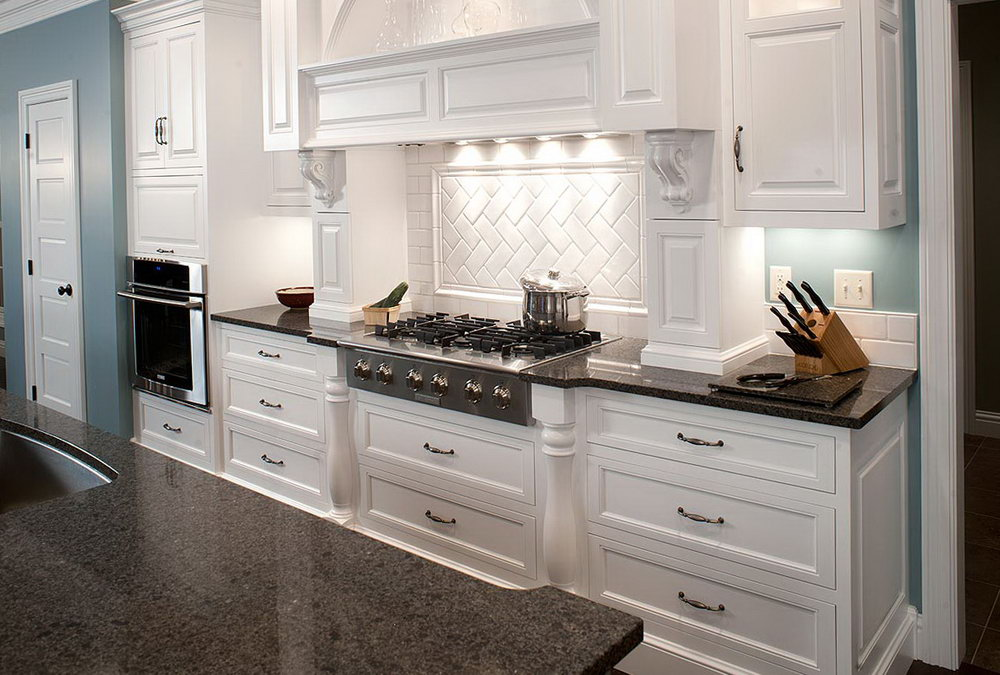 Off White Kitchen Cabinets With Black Granite