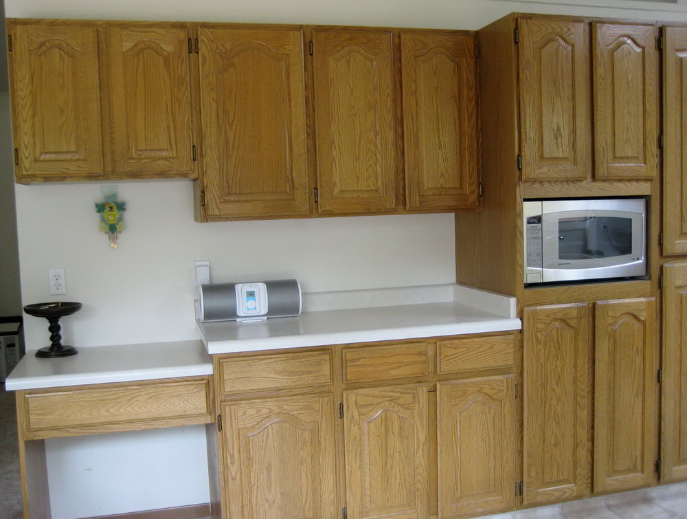 Paint Oak Kitchen Cabinets Before And After