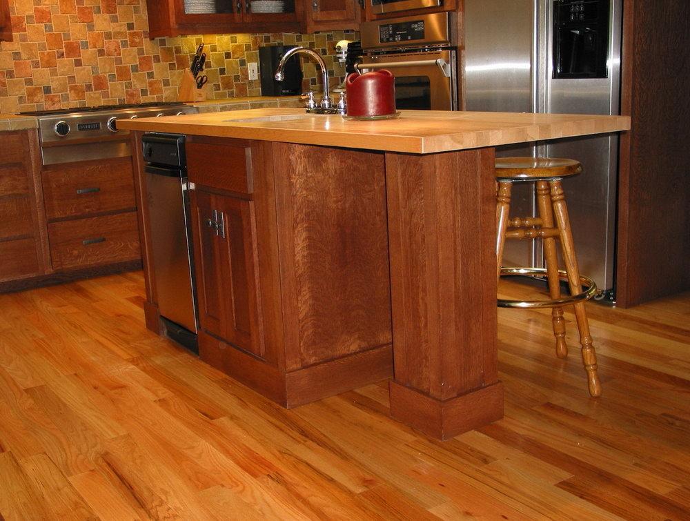 Quarter Sawn Red Oak Kitchen Cabinets