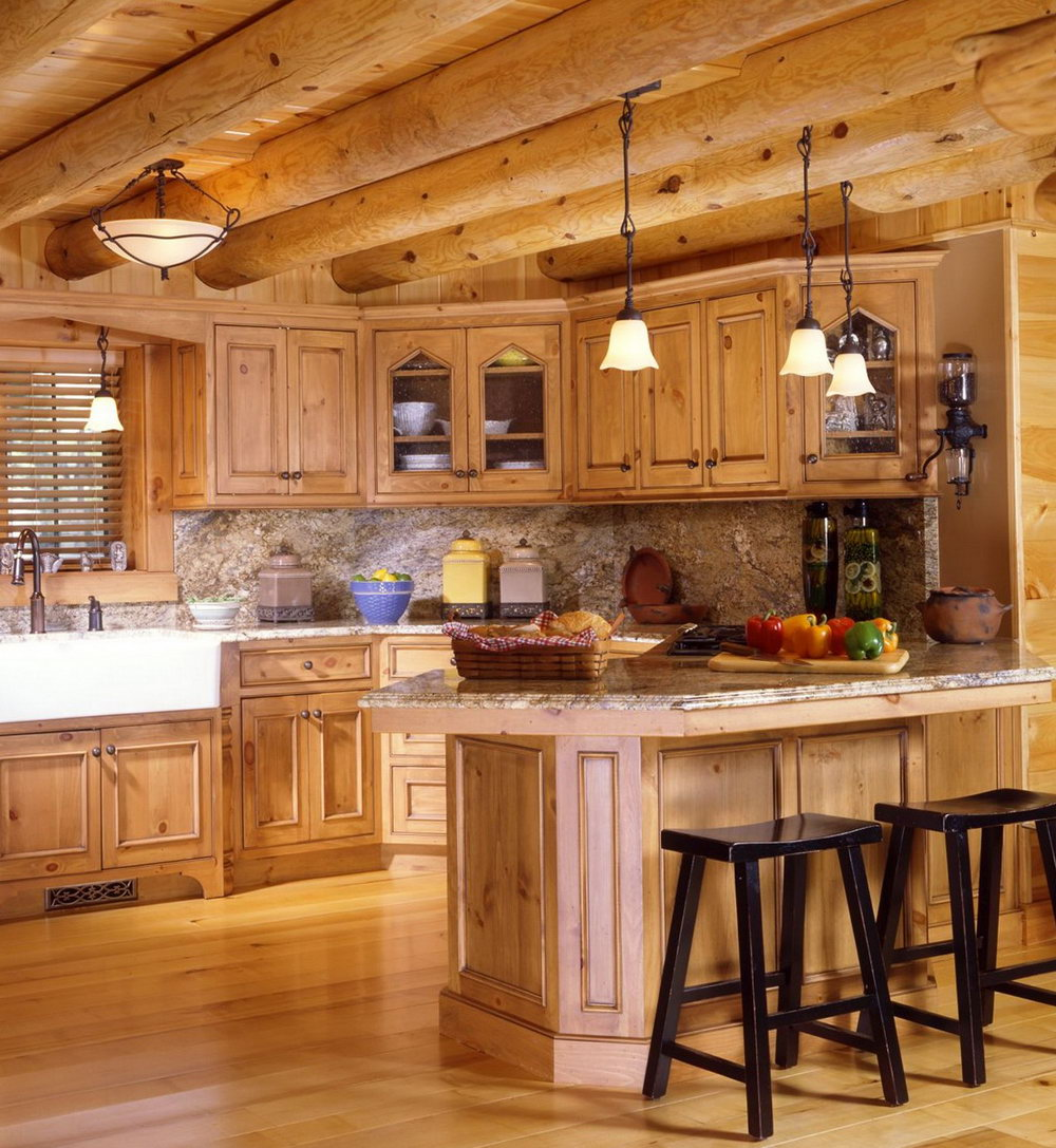 Rustic Cabin Kitchen Cabinets