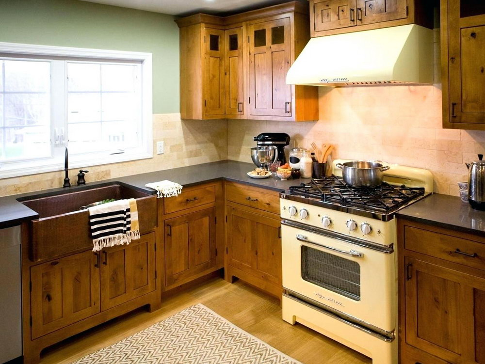 Rustic Hickory Kitchen Cabinets For Sale