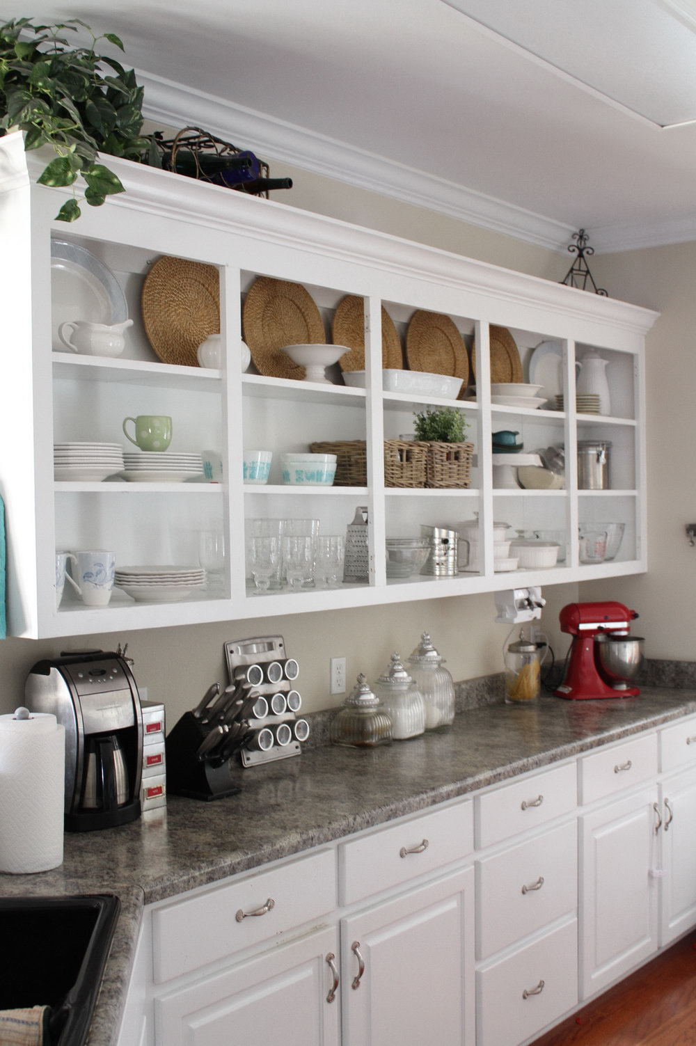 Shelves Above Kitchen Cabinets