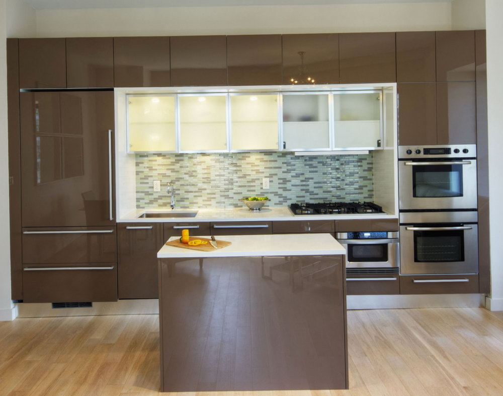Slab Front Kitchen Cabinets
