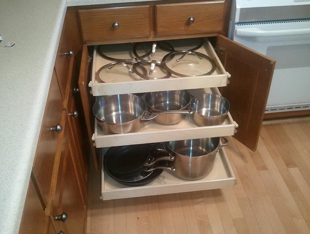 Sliding Shelves For Kitchen Cabinets