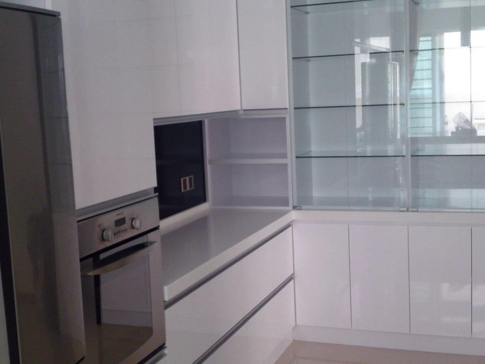 Small Kitchen Glass Cabinets