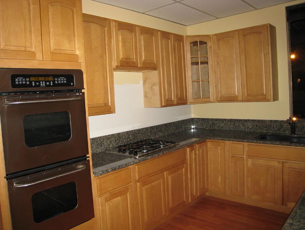 Small Kitchen Oak Cabinets