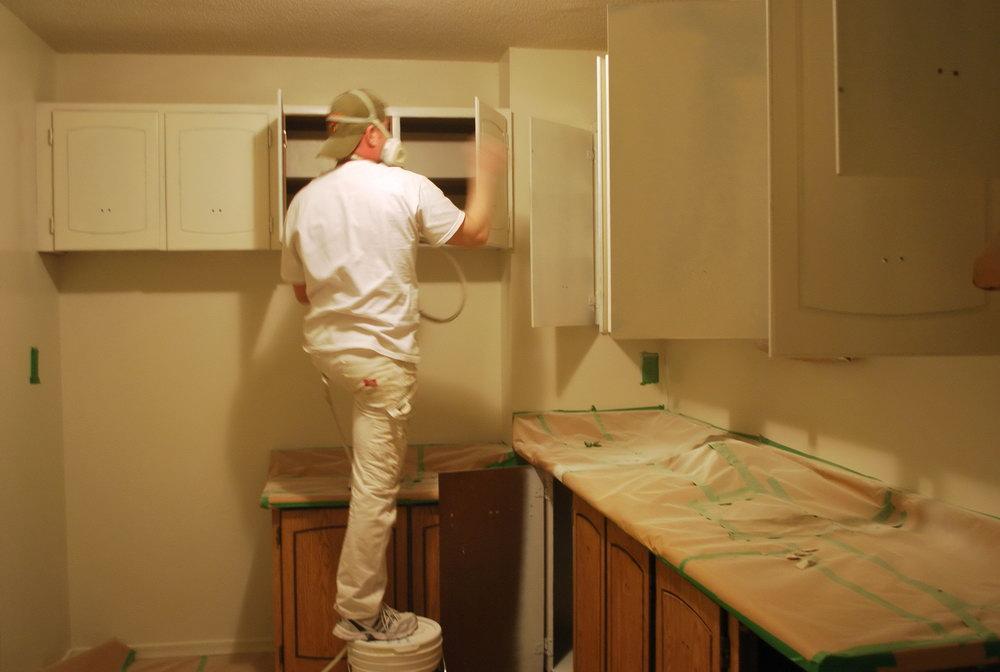 Spraying Kitchen Cabinets Cost Uk