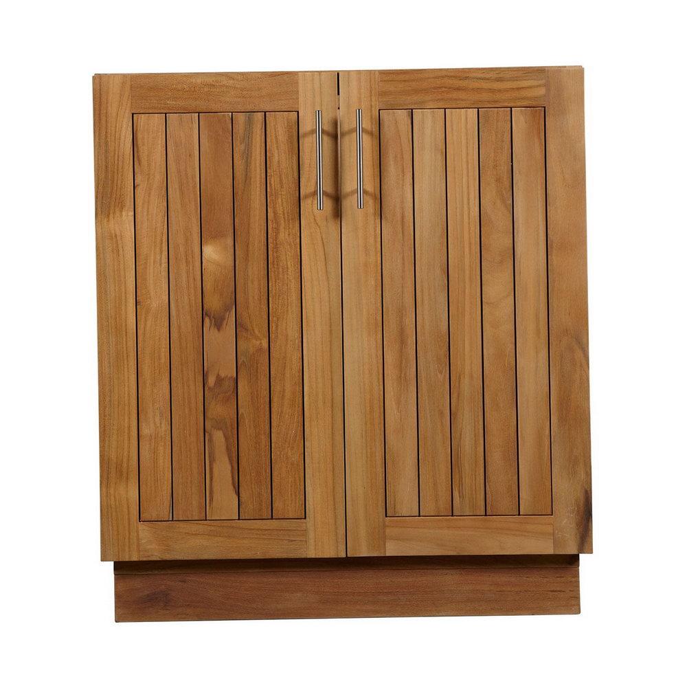 Teak Veneer Kitchen Cabinets