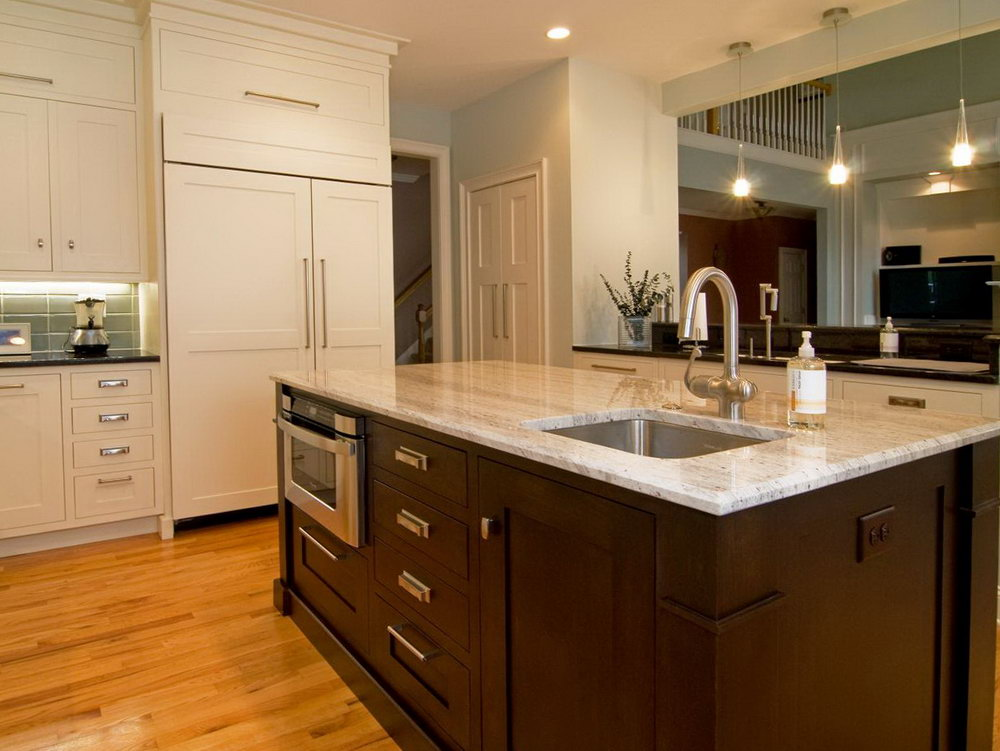 Transitional Kitchen Dark Cabinets