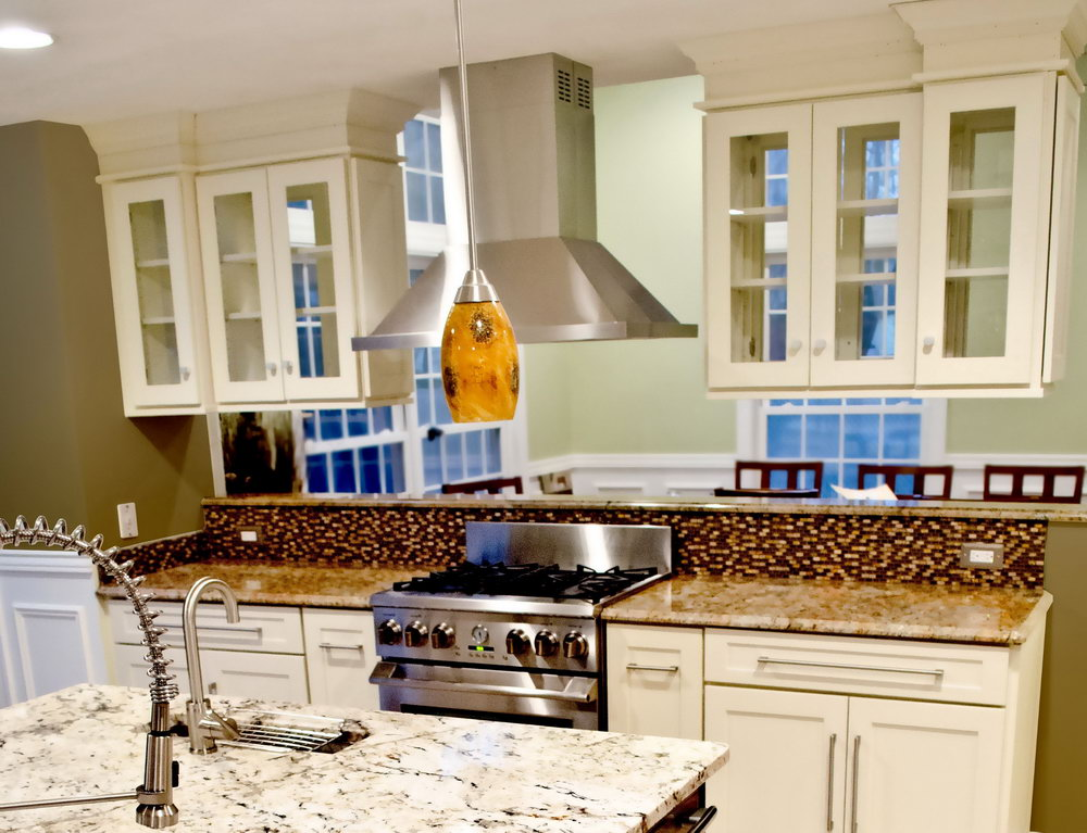 Upper Kitchen Cabinets With Glass Doors On Both Sides