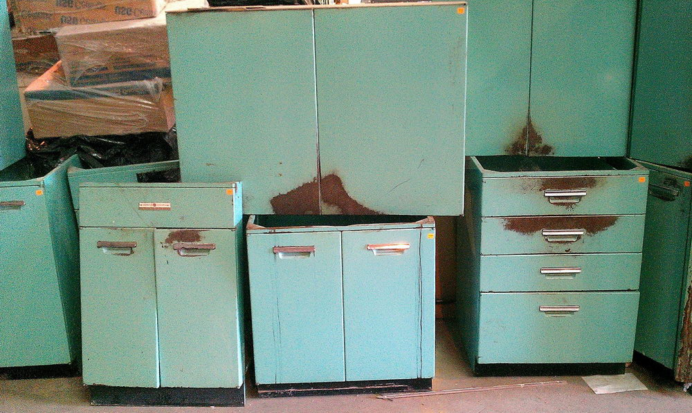 Vintage Metal Cabinets Kitchen