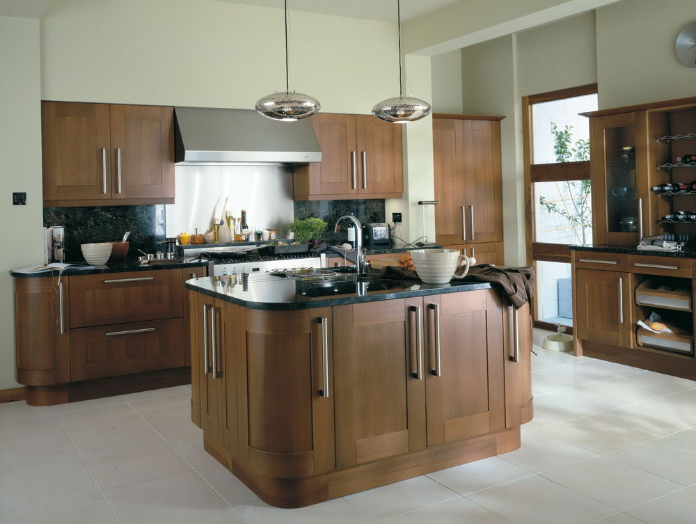 Walnut Color Kitchen Cabinets