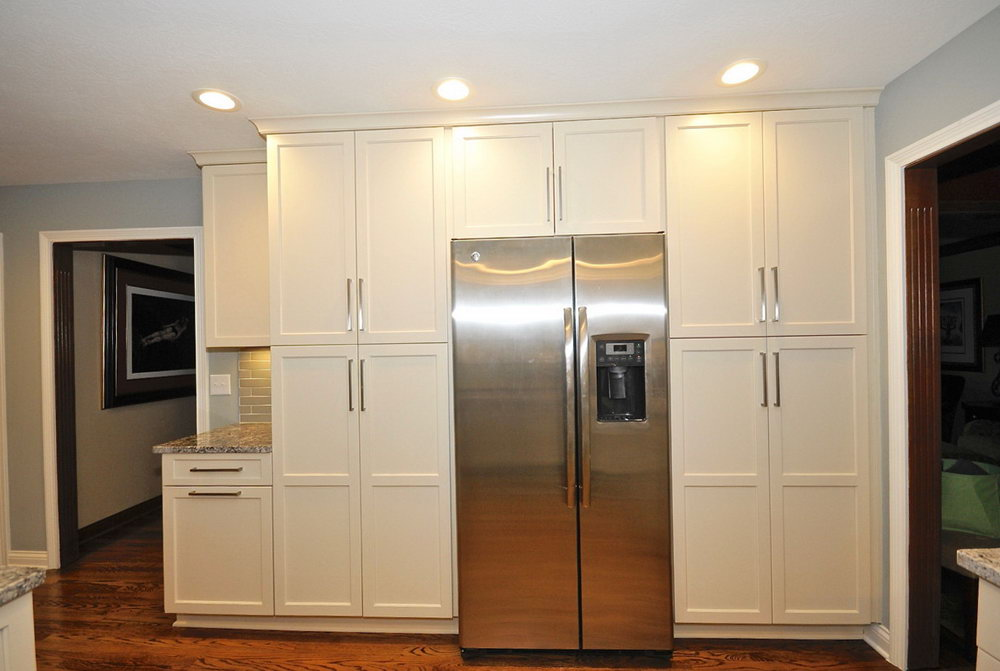 White Flat Front Kitchen Cabinets