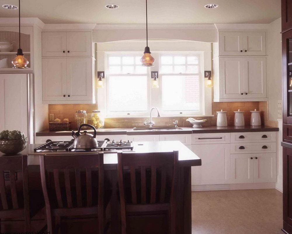 White Mission Kitchen Cabinets