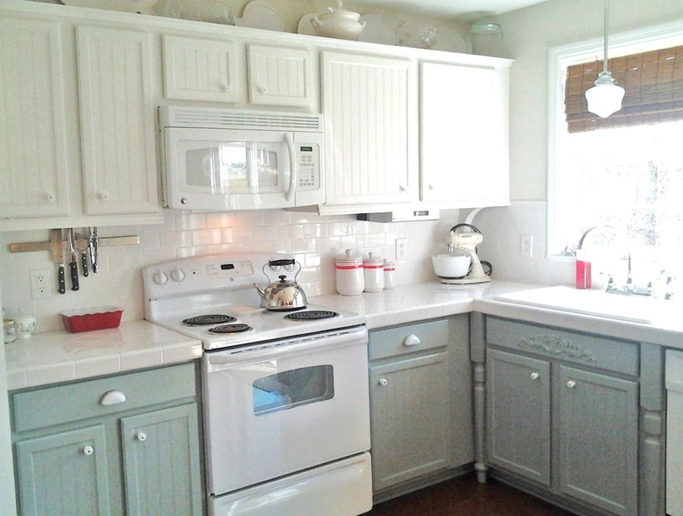 White Paint For Kitchen Cabinets With White Appliances